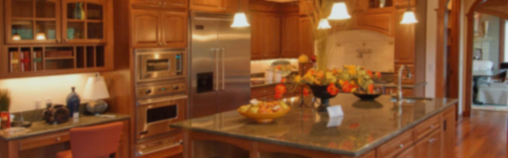 interior of gourmet kitchen